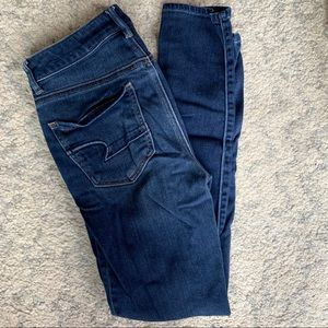 AE High Rise Ripped Jeggings
